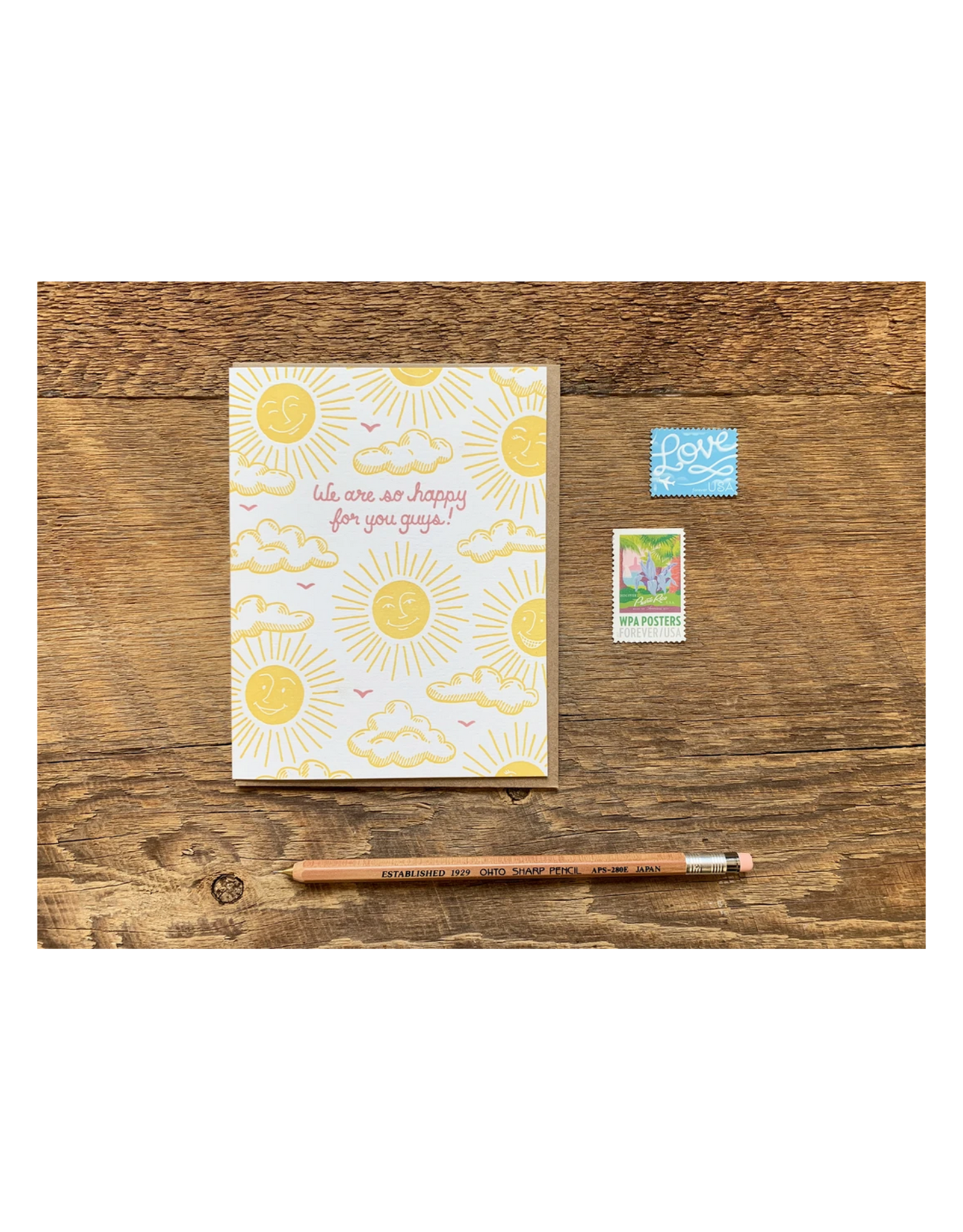 We Are So Happy For You Guys Greeting Card