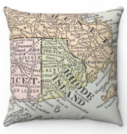 Rhode Island Map Pillow - Seconds Sale