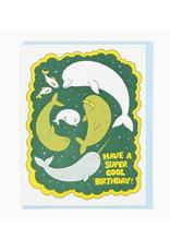 Super Cool Birthday Sea Mammals Greeting Card
