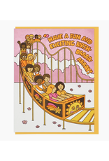 Fun and Exciting Rollercoaster Birthday Greeting Card