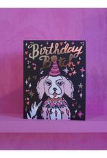 Birthday Bitch Goldfoil Dog Greeting Card