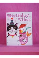 Birthday Vibes Cat Greeting Card