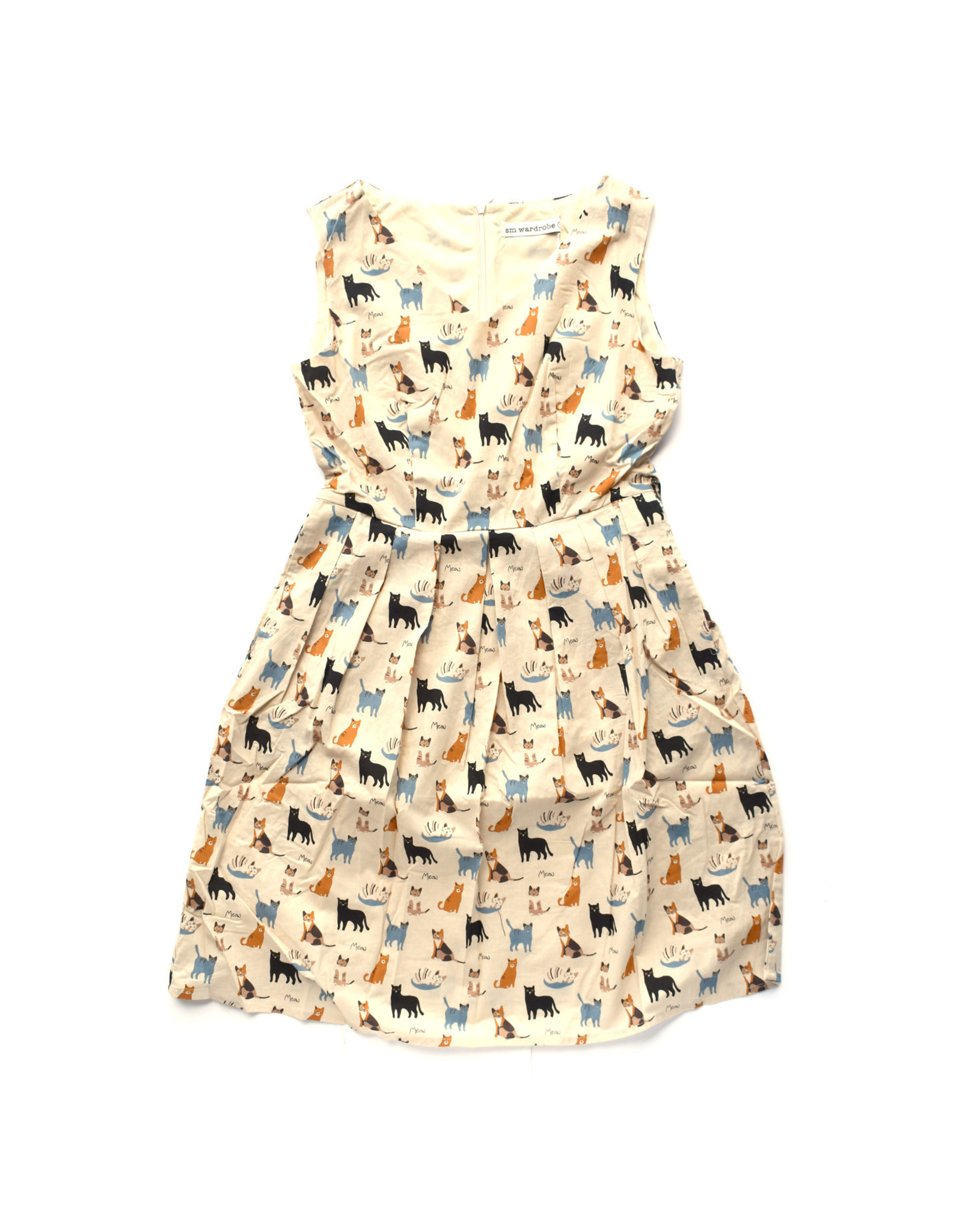 Group Of Cats Print Dress
