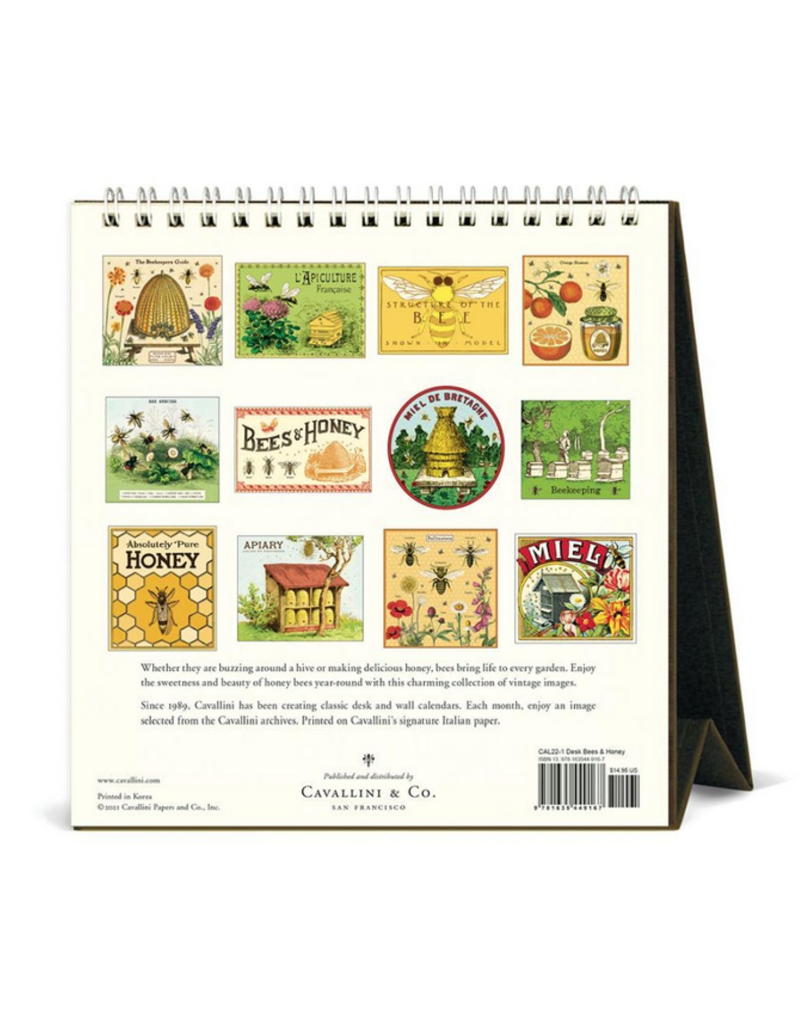 2022 Desk Calendar: Bees & Honey