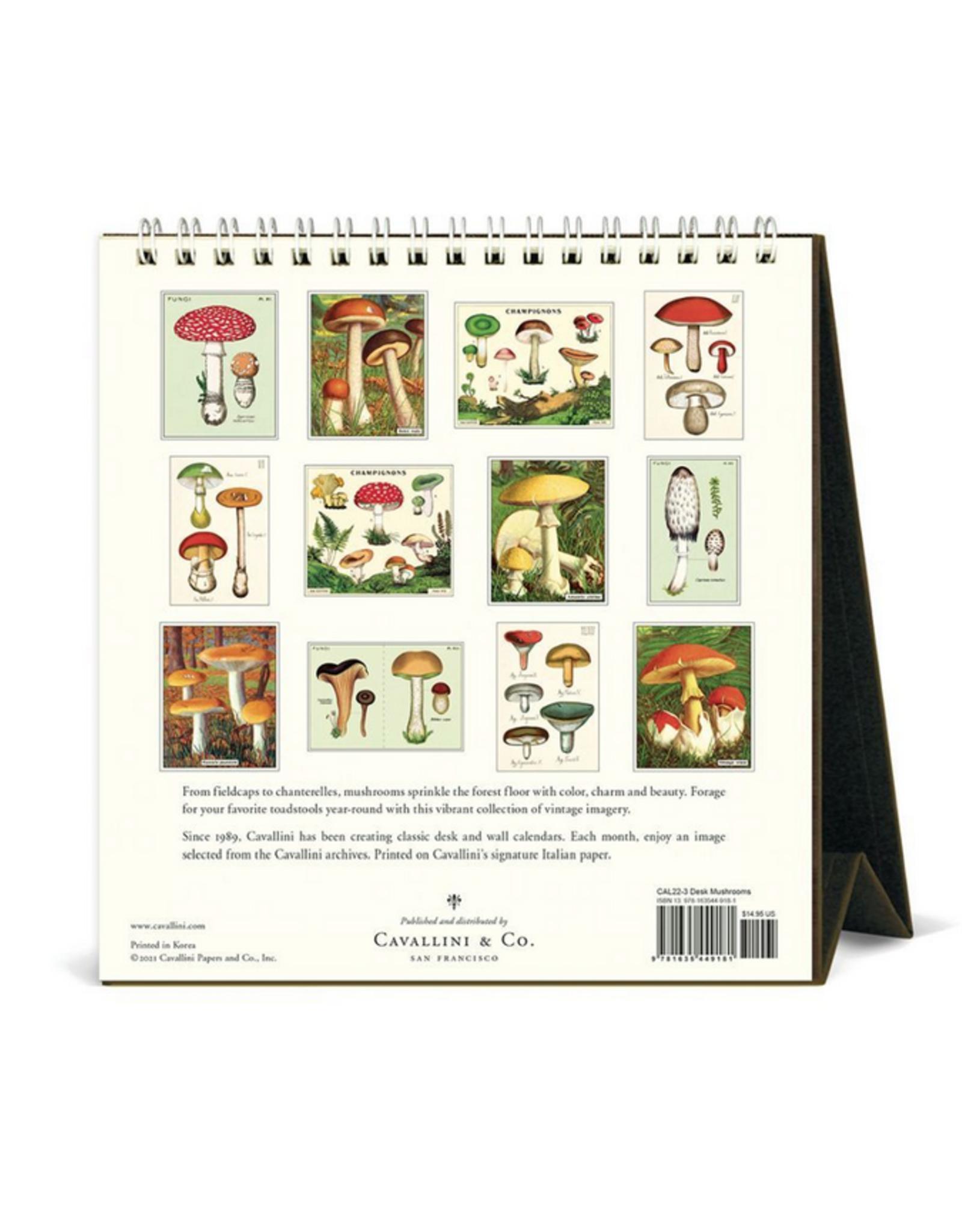 2022 Desk Calendar: Mushrooms
