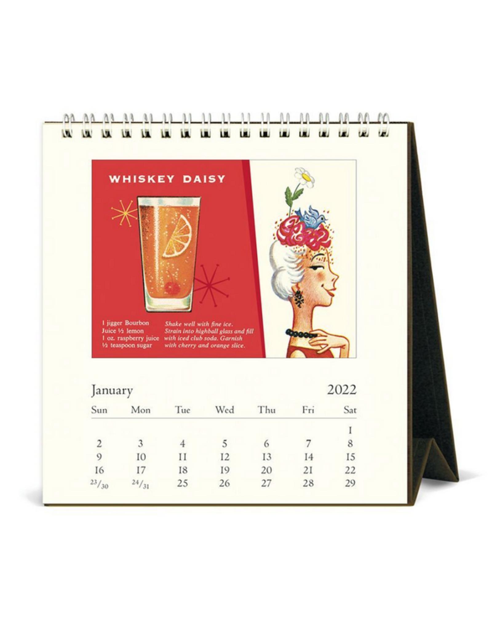 2022 Desk Calendar: Vintage Cocktails