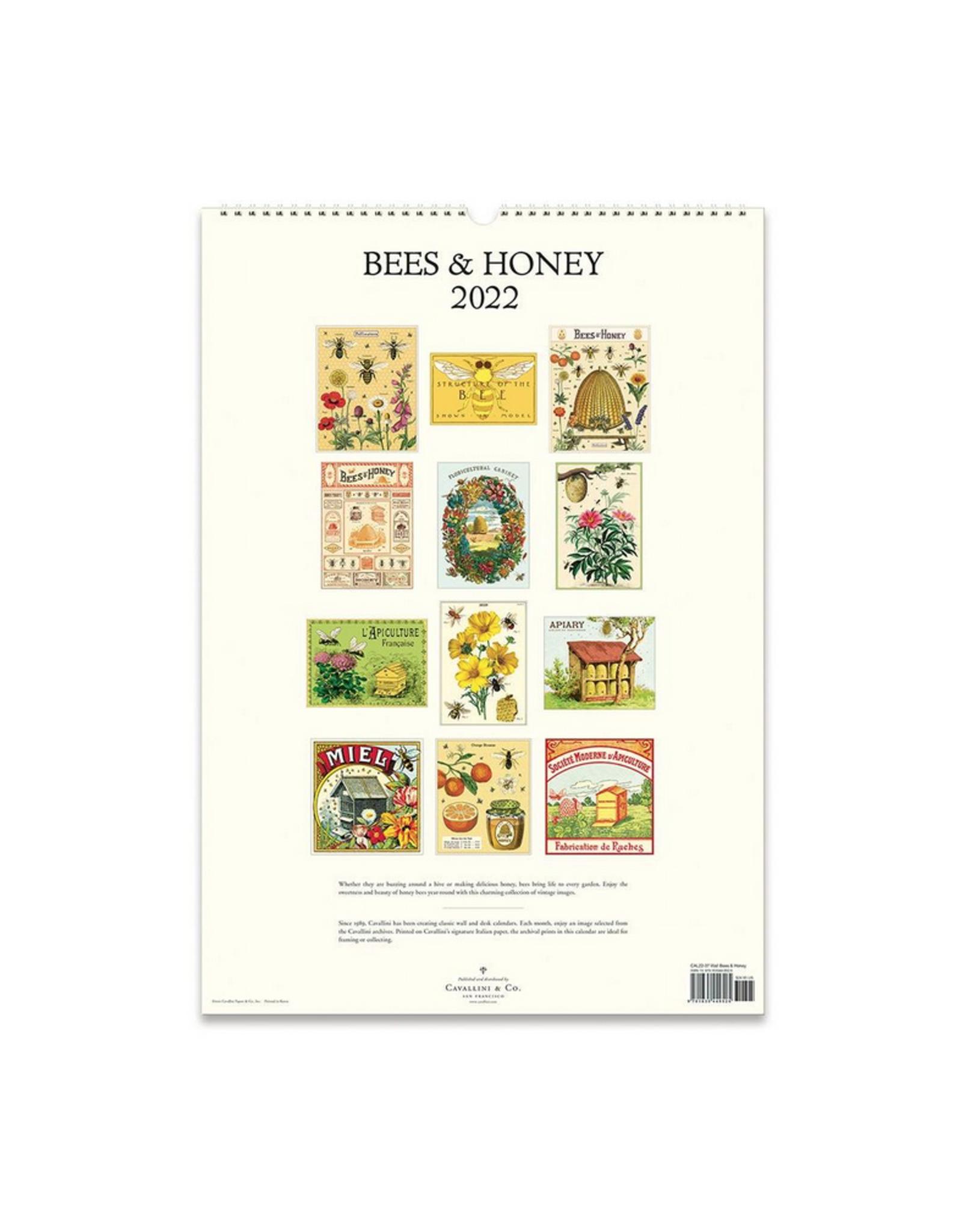 2022 Wall Calendar : Bees & Honey