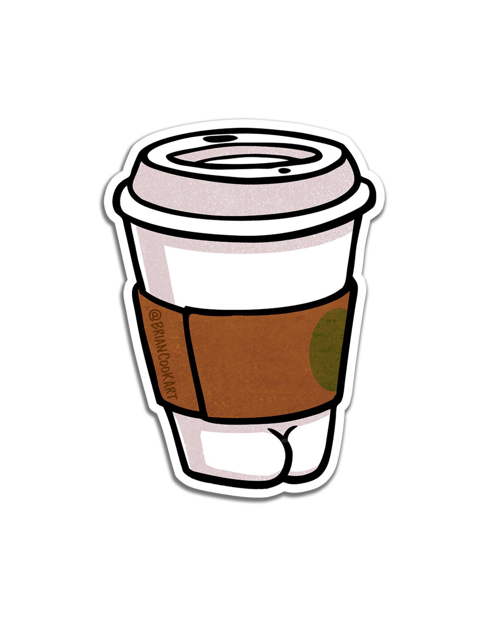 Coffee Butt Sticker