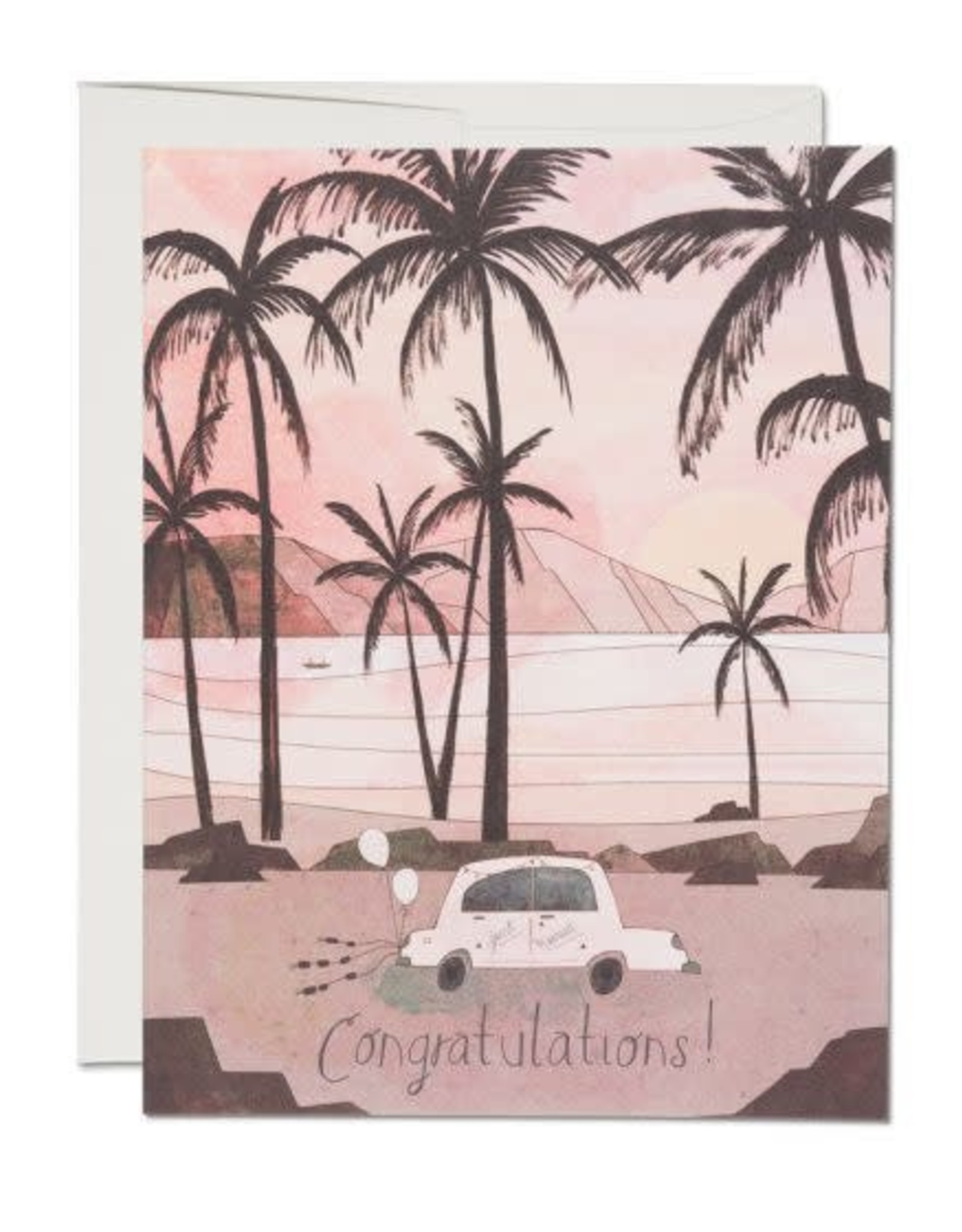 Getaway Car Wedding Congratulations Greeting Card