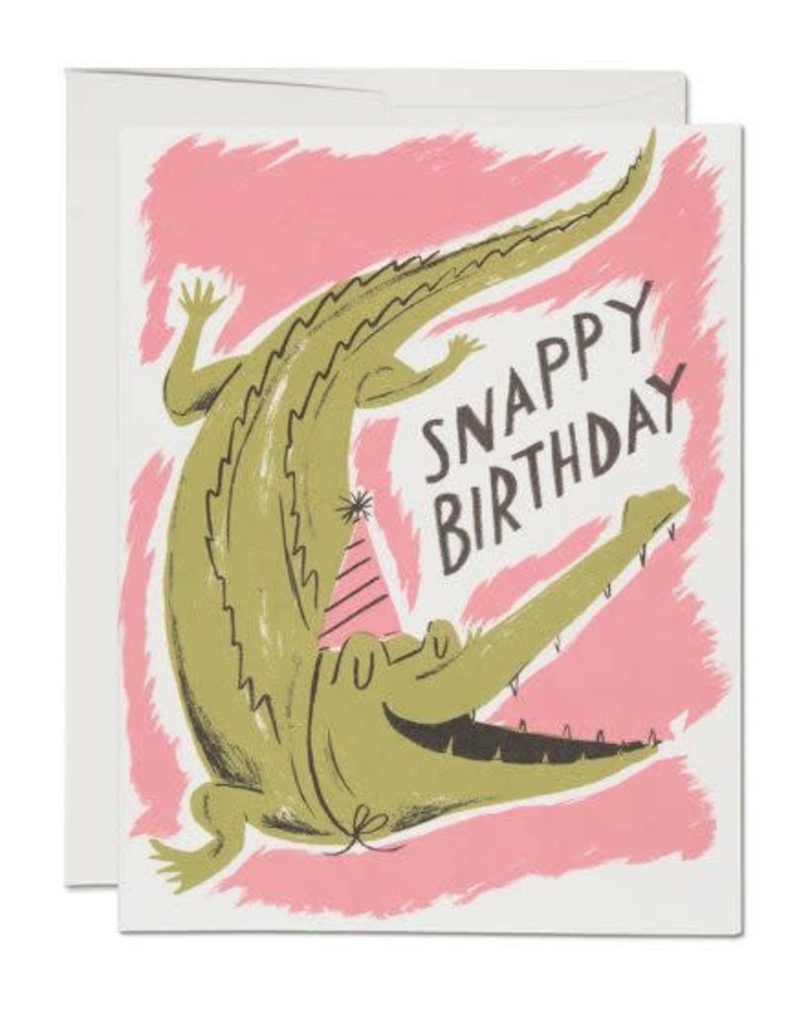 Snappy Birthday Crocodile Greeting Card