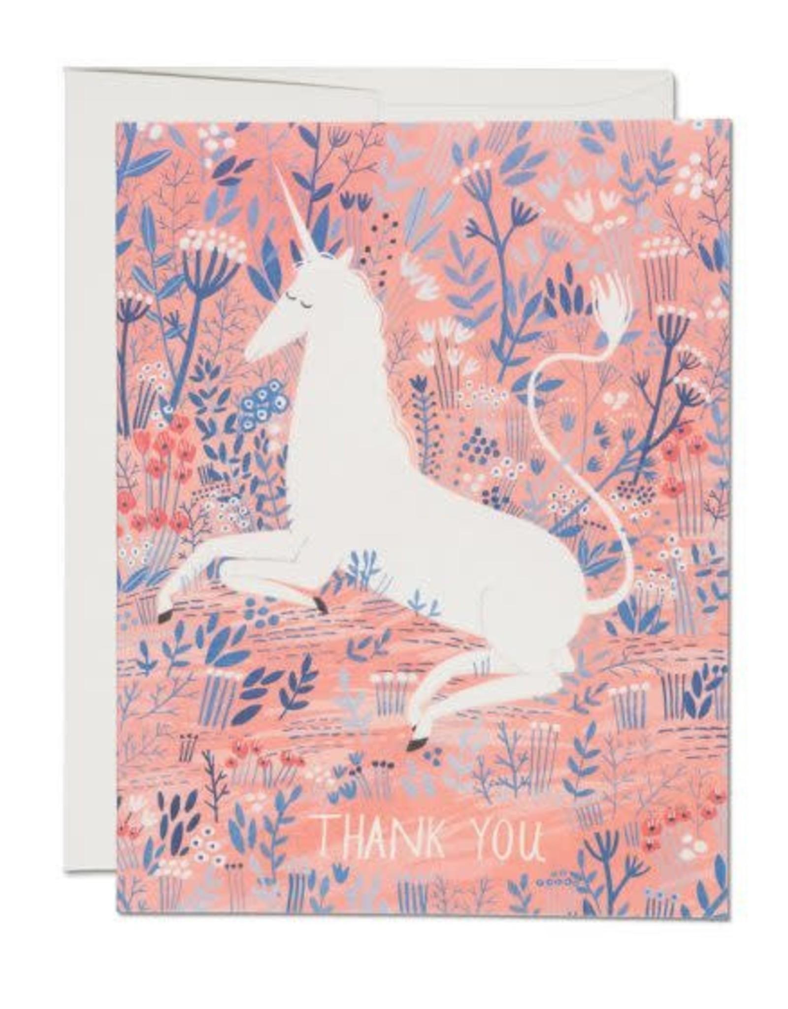 Unicorn Thank You Greeting Card