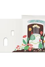 Happy Birthday Log Greeting Card