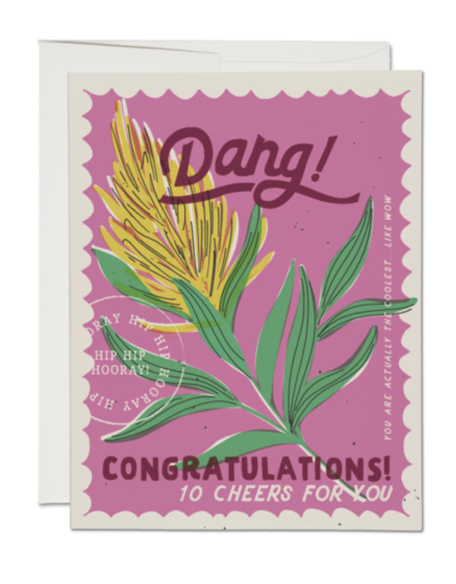 Dang Congrats Stamp Greeting Card