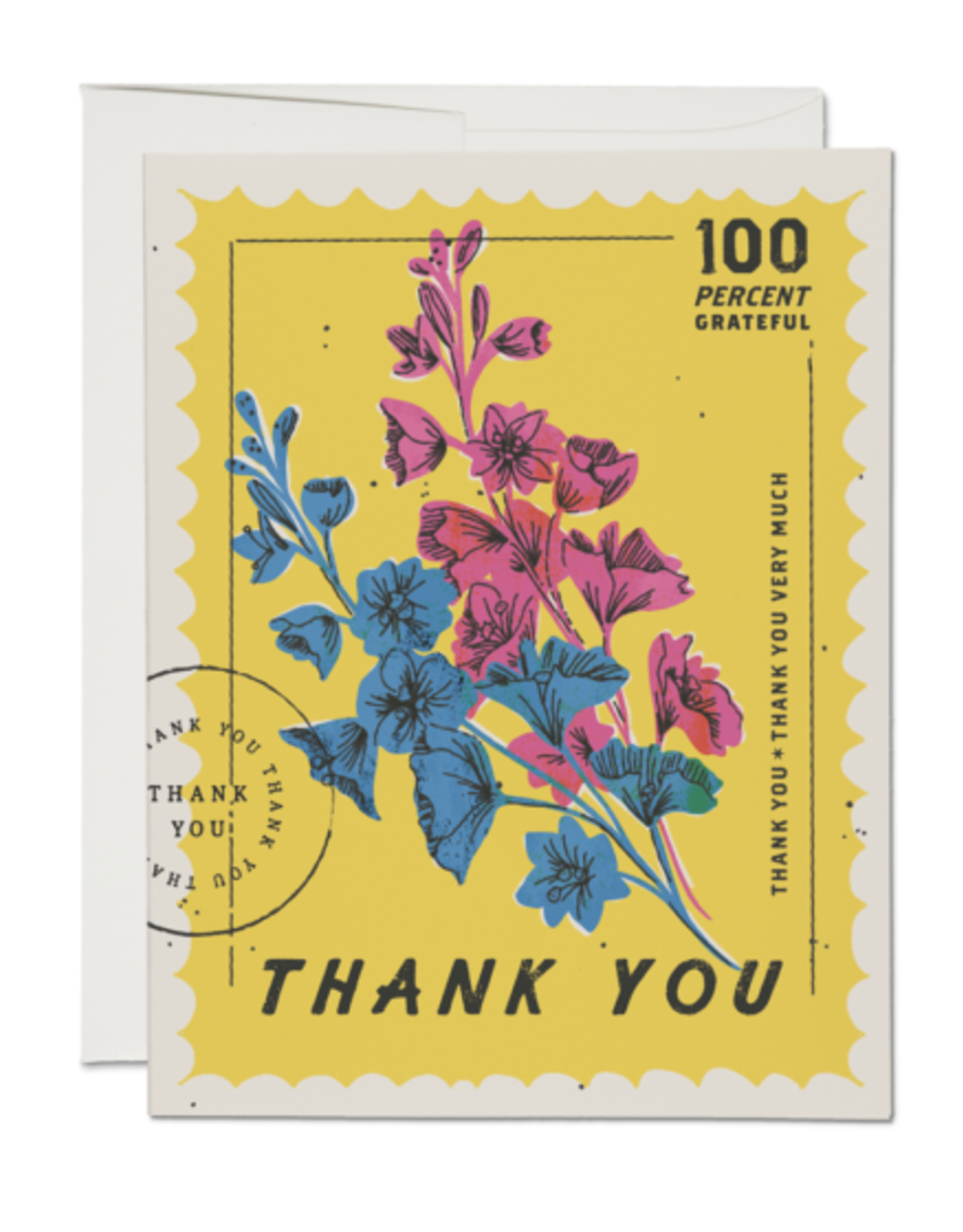 100 Percent Grateful Stamp Greeting Card