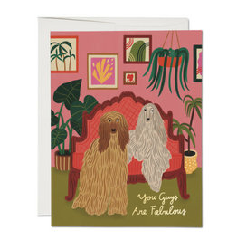 You Guys Are Fabulous Afghans Greeting Card