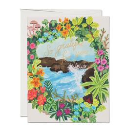 So Grateful Ocean Vignette Greeting Card