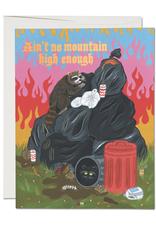 Ain't No Mountain High Enough Raccoon Greeting Card