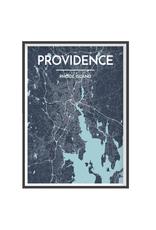 Providence City Streets Map Print