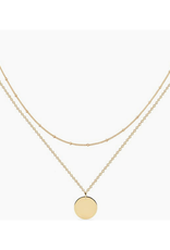 Gold Layered Disc Necklaces