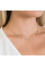 Gold Paper Clip Necklace