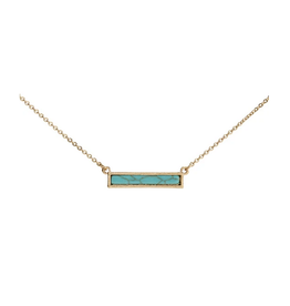 Gold Turquoise Bar Necklace