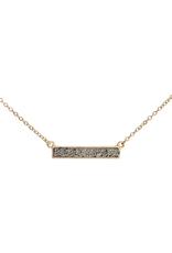 Grey Sparkle Bar Necklace