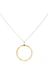 Sunshine Tortoise Circle Necklace