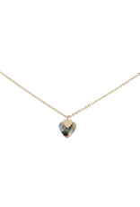 Marbled Multicolor Heart Necklace