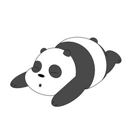 Sleepy Panda Bear Sticker