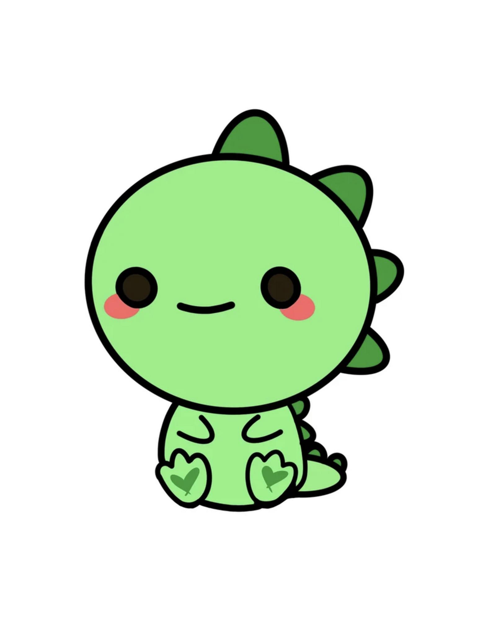 Chubby Dinosaur Sticker