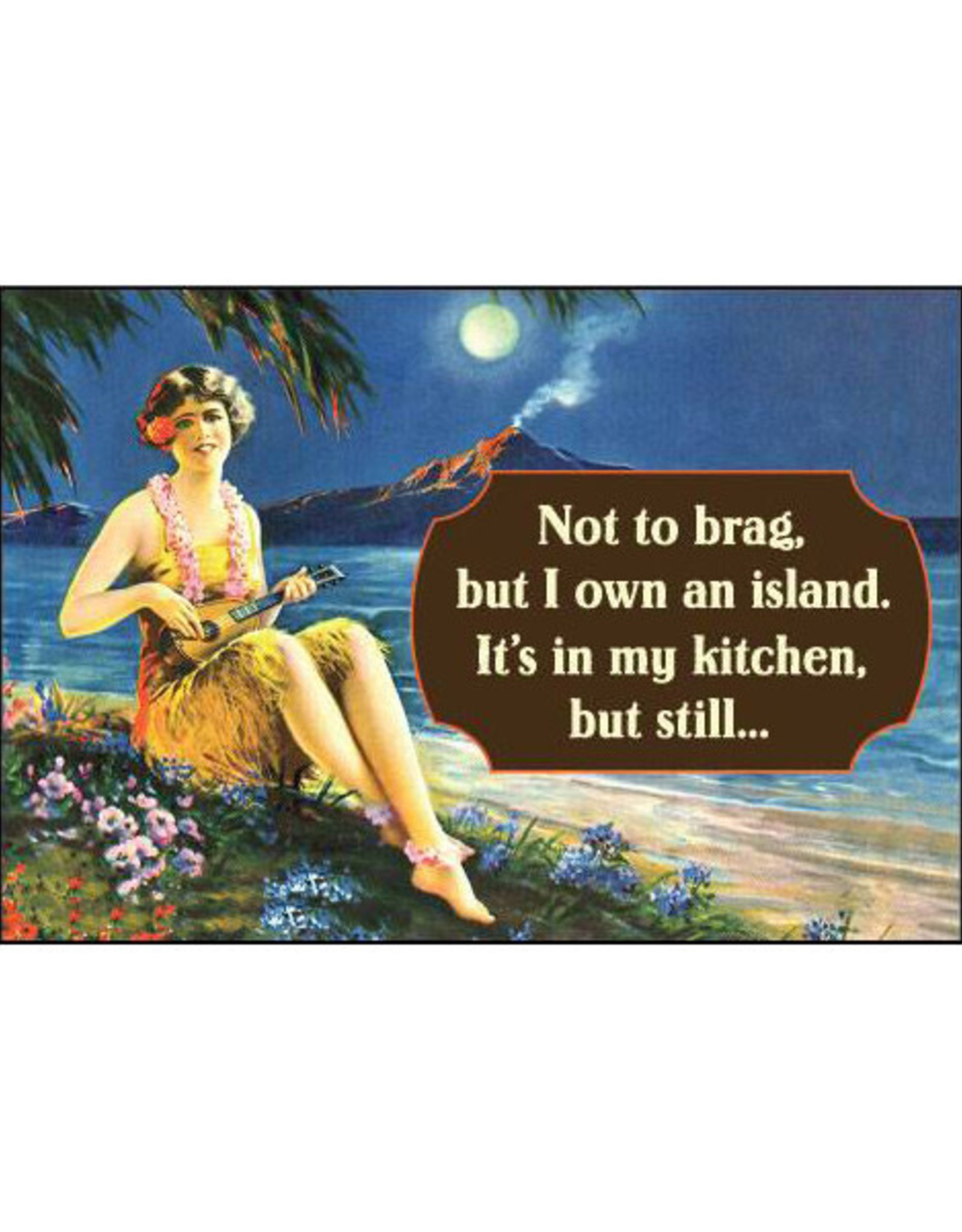 Not to Brag, I Own an Island Magnet