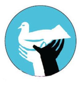 Peace Dove Hands Button