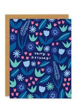 June Floral Birthday Greeting Card