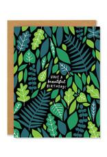 Beautiful Birthday Greenery Greeting Card
