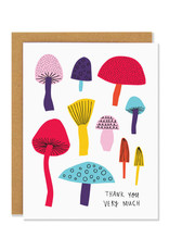Thank You Very Much Mushrooms Greeting Card