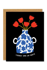 Thank You So Much Vase Greeting Card