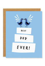 Best Day Ever Wedding Cake Greeting Card
