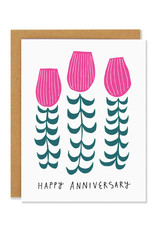 Happy Anniversary Tulip Bouquet Greeting Card