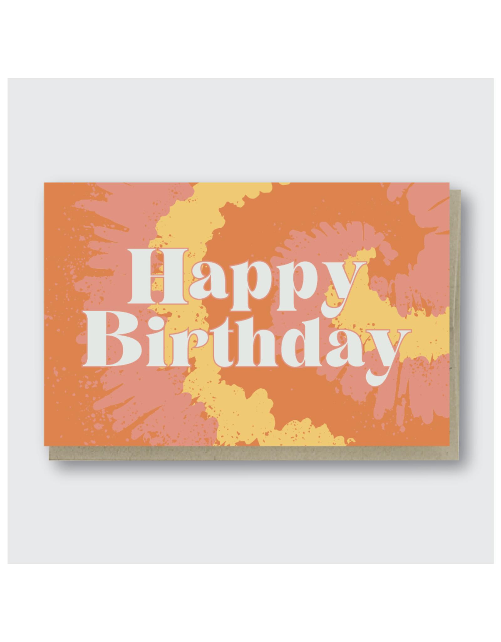 Happy Birthday Tie Die Greeting Card