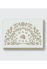 Thank You Flower Arch Greeting Card