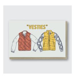 Vesties Besties Greeting Card