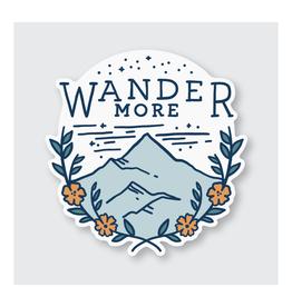 Wander More Sticker
