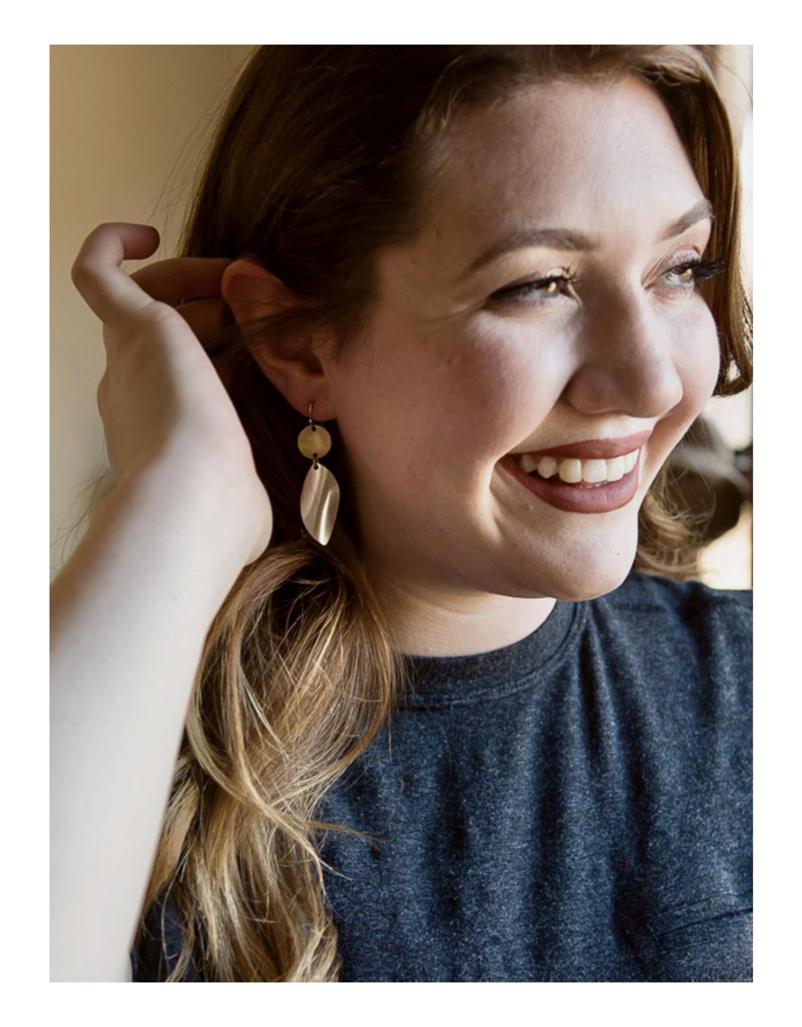 Mixed Metal Twist Earrings