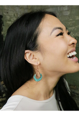 Patina Copper Loop Earrings