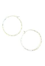 Bamboo Hoop Earrings (Silver)