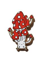 Cute Mushroom Enamel Pin
