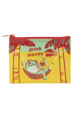 I Drink Money Frog Coin Purse