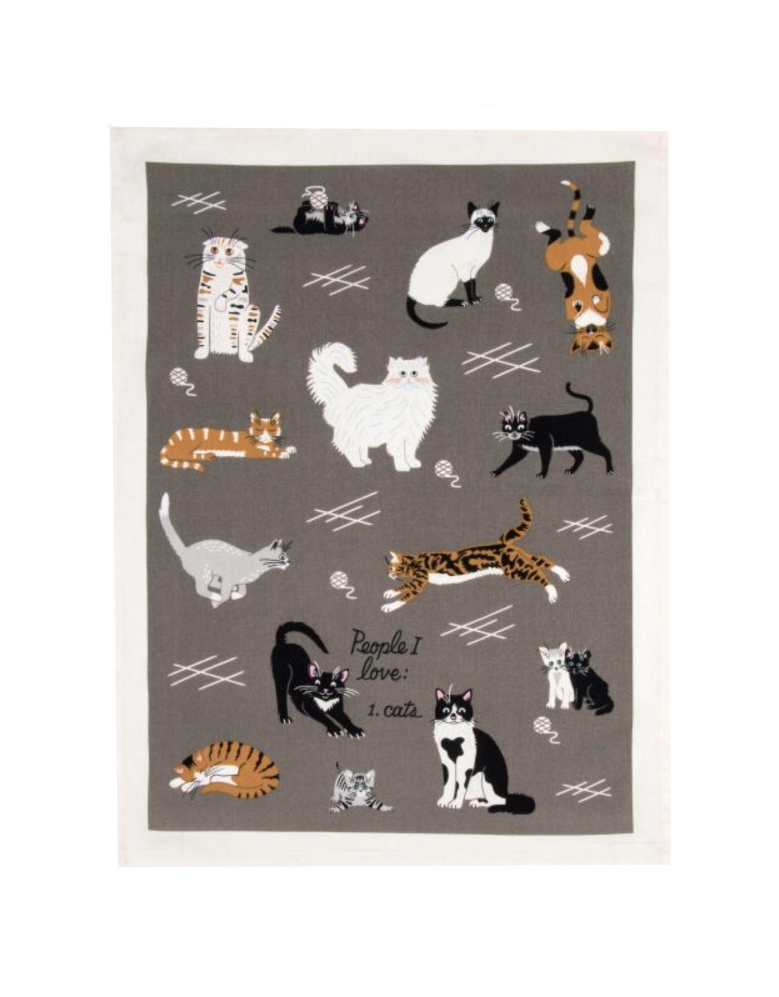 People I Love: Cats Dish Towel