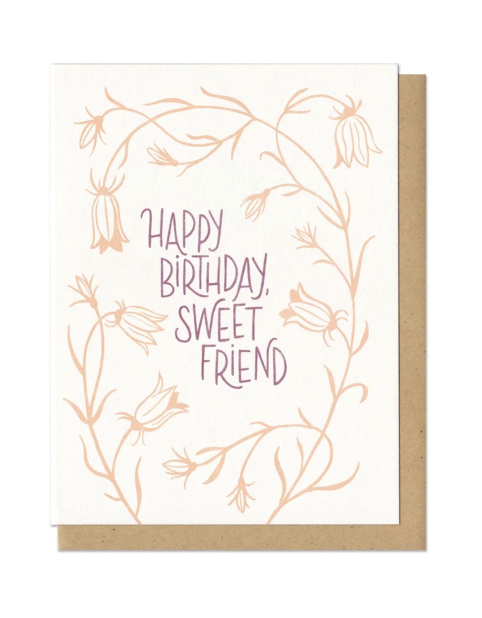 Happy Birthday, Sweet Friend Greeting Card