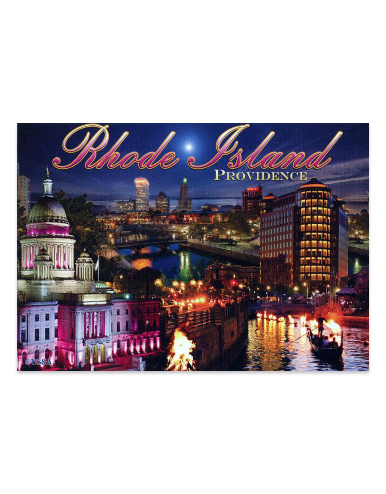 Providence RI Waterfire Postcard